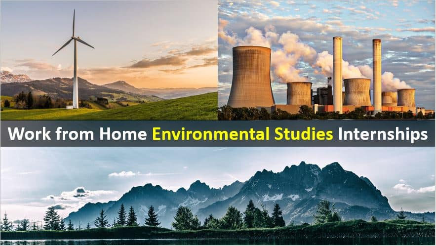 Work From Home Internships for Environmental Studies Students